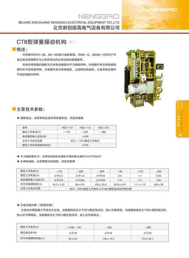 CT8型弹簧操动机构(图文)