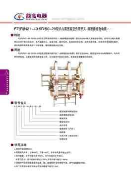 FN(R)N21-40.5D/50-20型户内高压真空负荷开关-熔断器组合电器(图文)