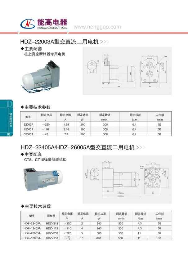 HDZ-22003A型交直流二用电机(图文)
